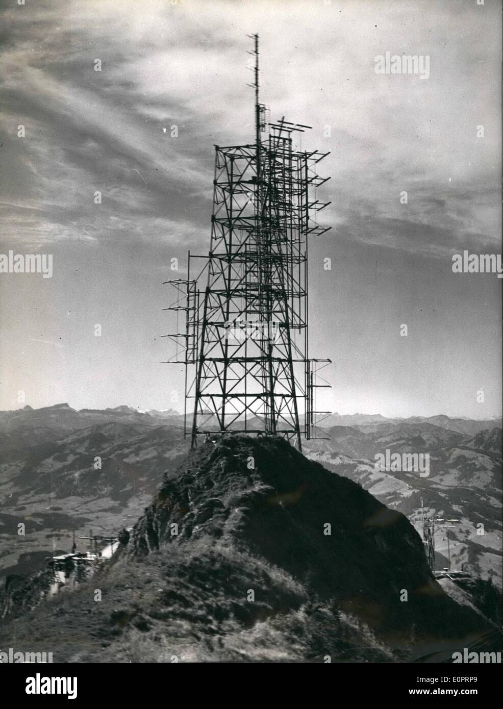 Nov. 11, 1956 - Very fine perspective gives a very fine telecast: At the Allgau Alps northeast from Sonthofen (Germany) Stock Photo