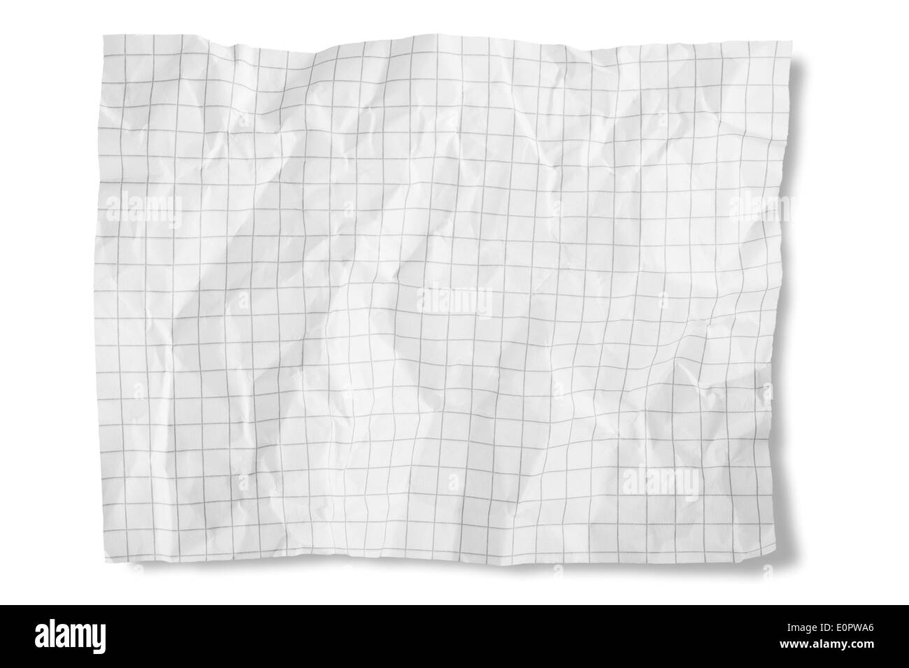 Paper Crumpled isolated on white - Stock Image