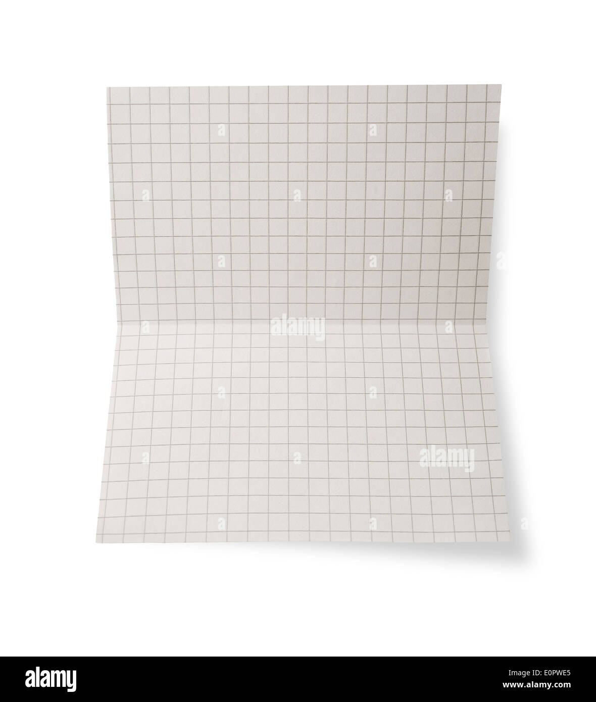 Paper sheet on white background - Stock Image