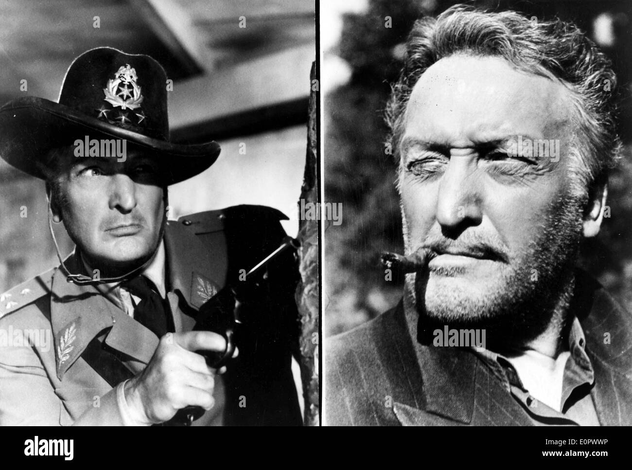 Actor Hans Albers in a scenes from two of his films - Stock Image