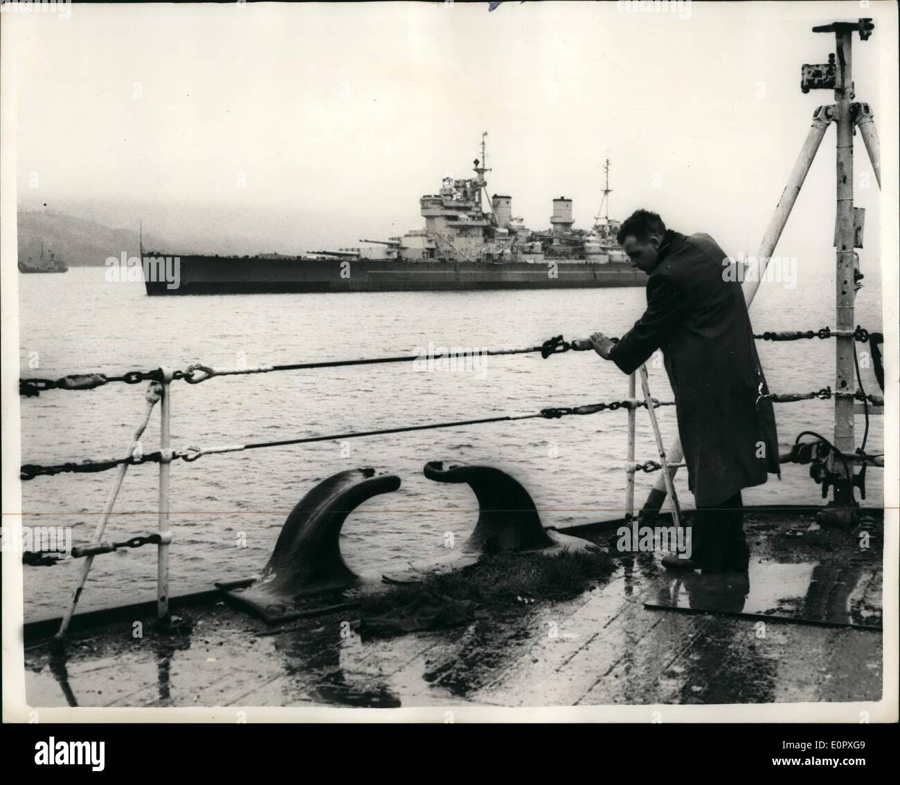 apr 04 1957 vessels of the royal navy ready for breakers yard