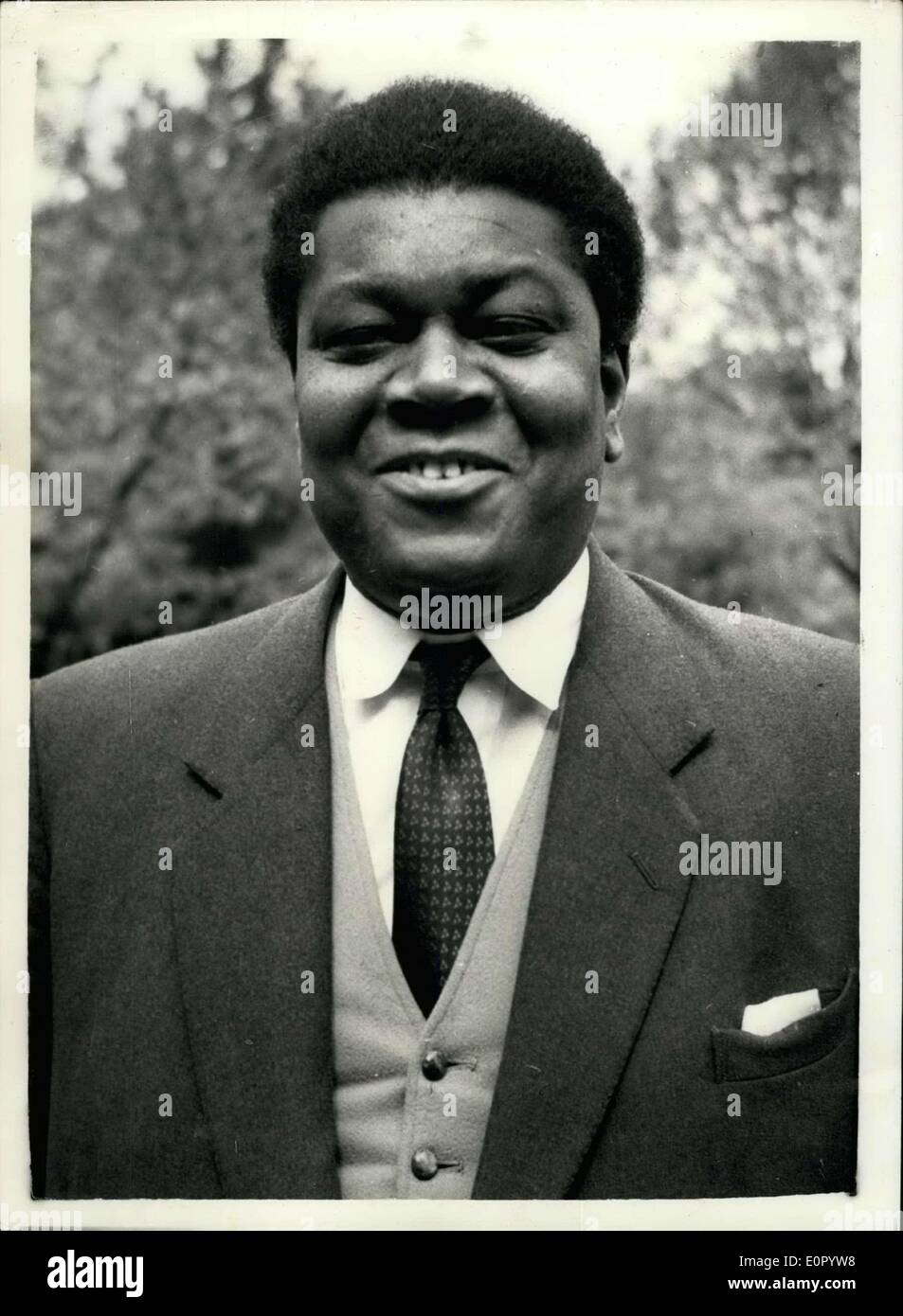 May 07, 1957 - Negro Doctor may stand for election to Westminster...Dr. David Pitt: The name of Dr. David Pitt a 6ft. 2 in. coloured man - born in Granada - has been forwarded by officials of the Hampatead Labour Party as candidate at the next election. If the party chief's approve the selection - Dr. Pitt could become an M.P.. He has lived in Britain - practising as a doctor since 1947.. Dr. Pitt says that he is well aware of the colour bar - but if he is elected to stand for Parliament - colour would not enter in to it. Photo shows Dr. David Pitt. - Stock Image