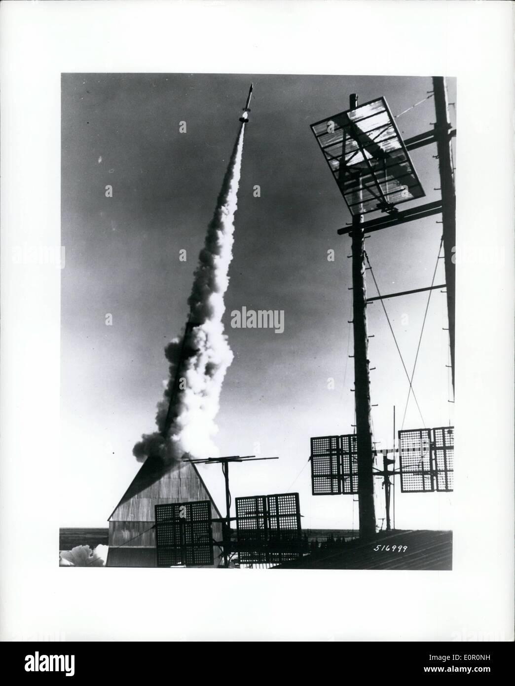 aug 08 1957 canada delayed action fireworks aerobee rocket