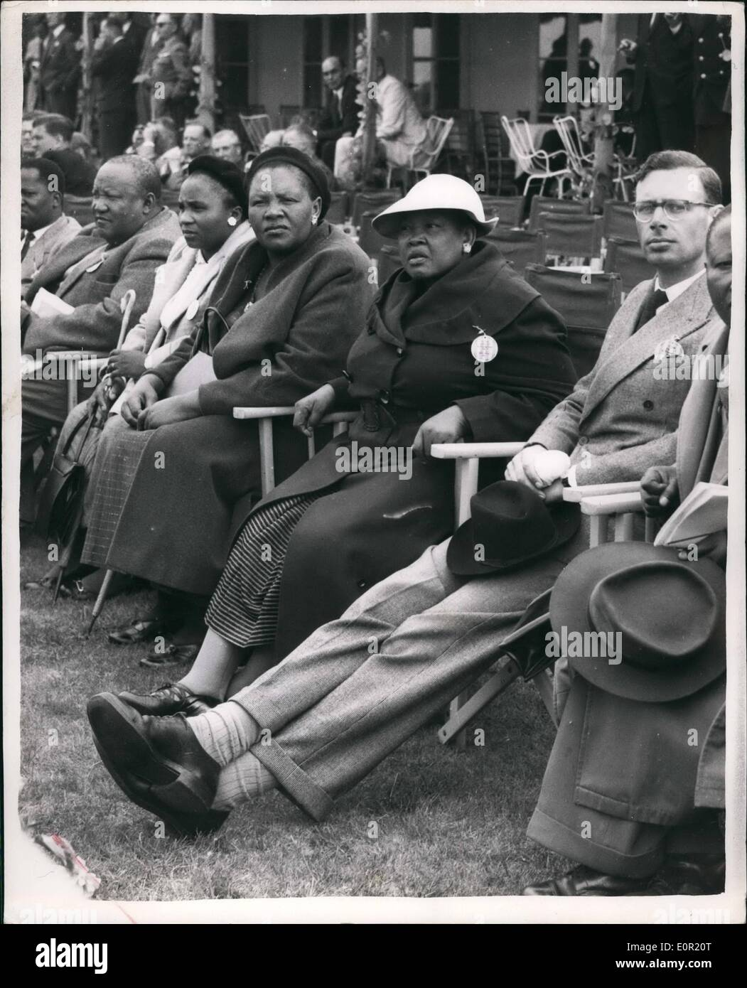 Sep. 09, 1957 - The Farnborough Air Show Basutoland Chieftainess Look On: Representatives from any countries were - Stock Image