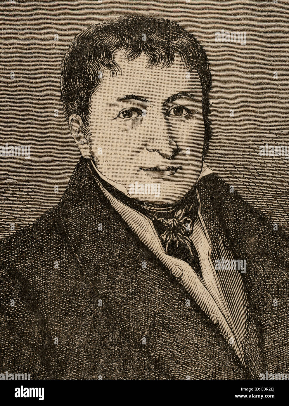 Friedrich Koenig (1774-1833). German Inventor. The Engraving in Illustration, 1883. - Stock Image