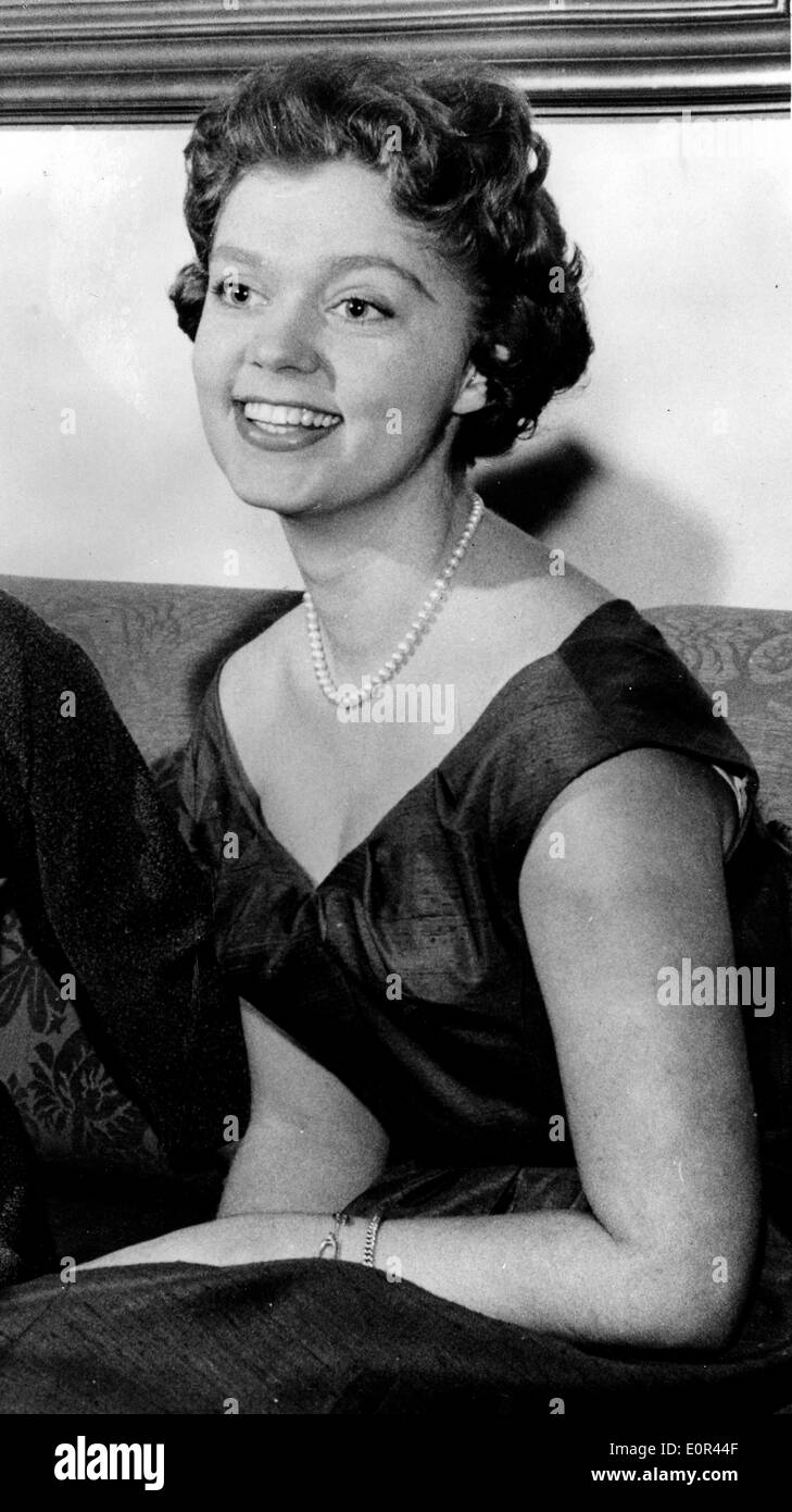 Princess Birgitta at a party on her 21st birthday - Stock Image