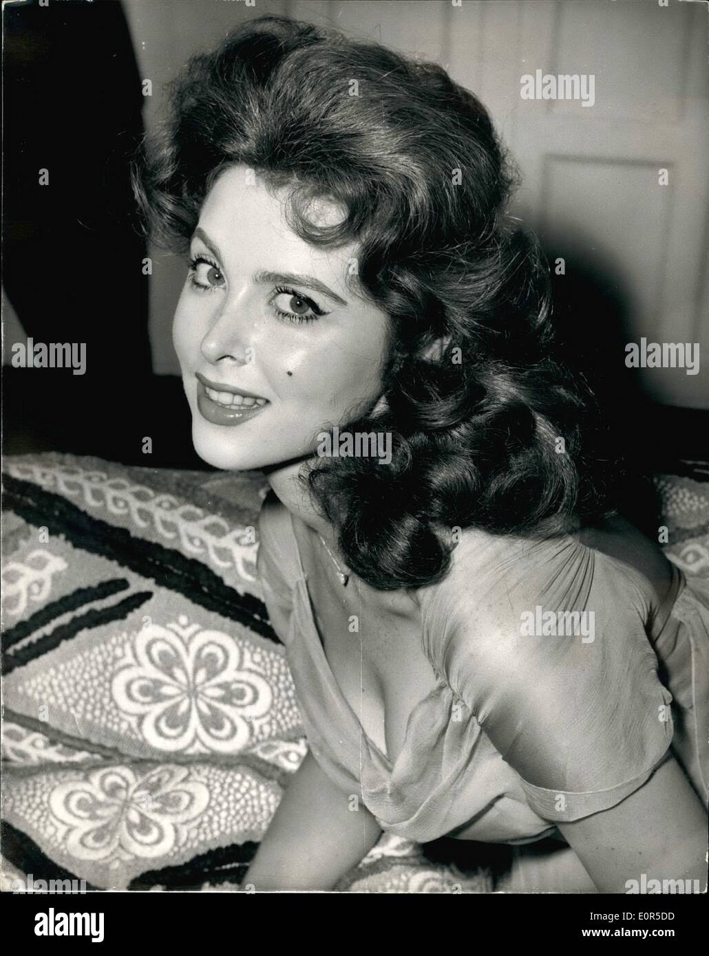 Mar. 03, 1958 - ''God''s little crew star in London. Tina Louise at the savoy. Miss Tina Louise - the American screen star who has been called ''The Most beautiful redhead in the world'' was to be seen at the savoy hotel this morning. She is here for the premiers of her first film ''God''s Little Acre.''. photo shows Tina Louise during a press conference at the Savoy this morning. - Stock Image