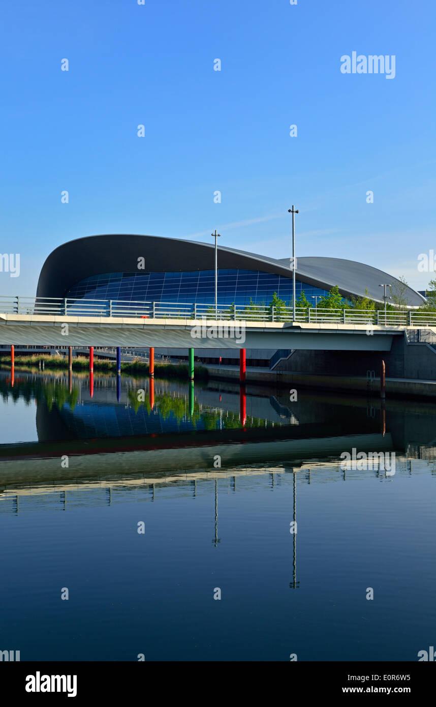 London Aquatics Centre, Queen Elizabeth Olympic Park, London E20, United Kingdom - Stock Image