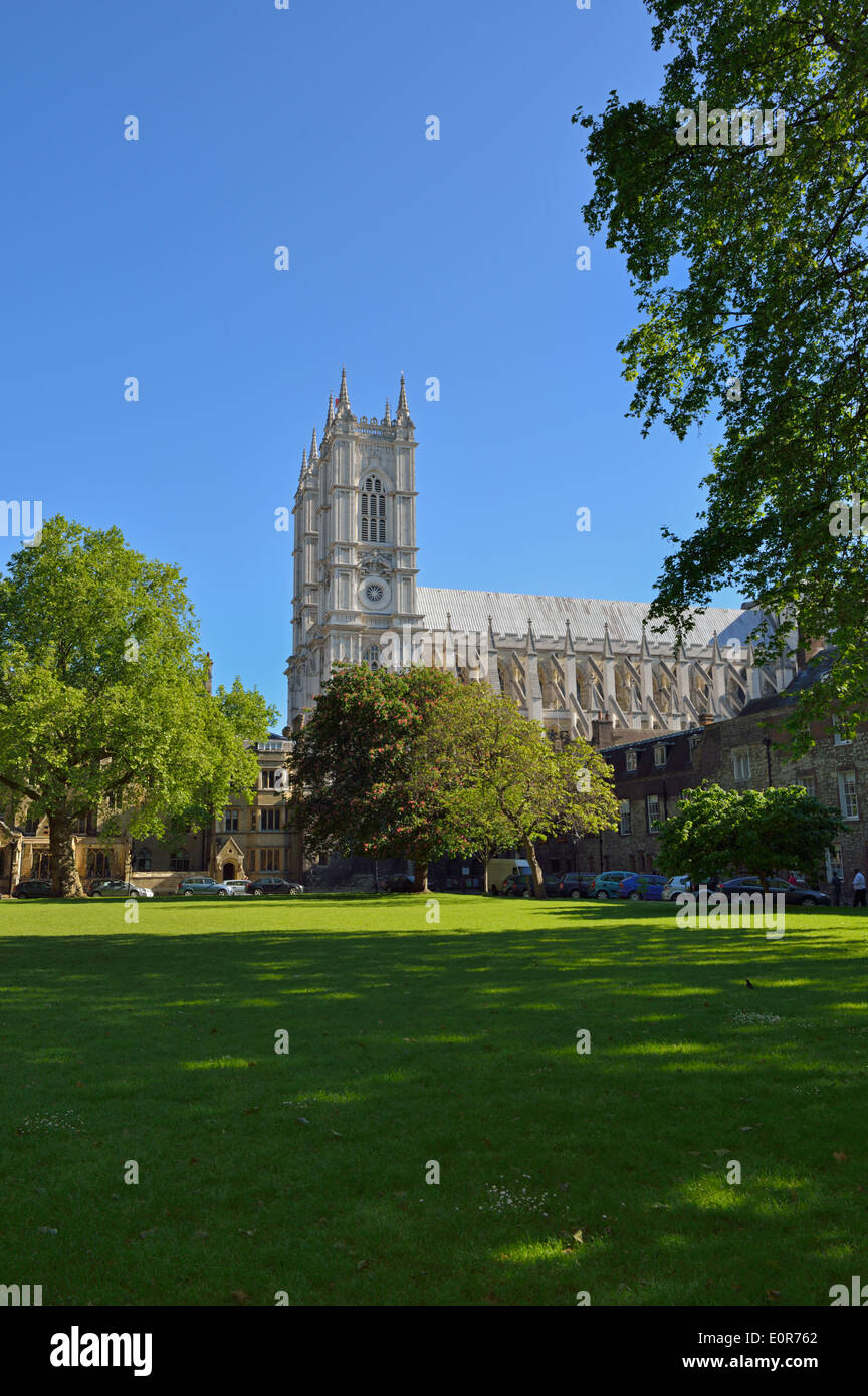 Dean's Yard, Westminster Abbey, London SW1P, United Kingdom - Stock Image