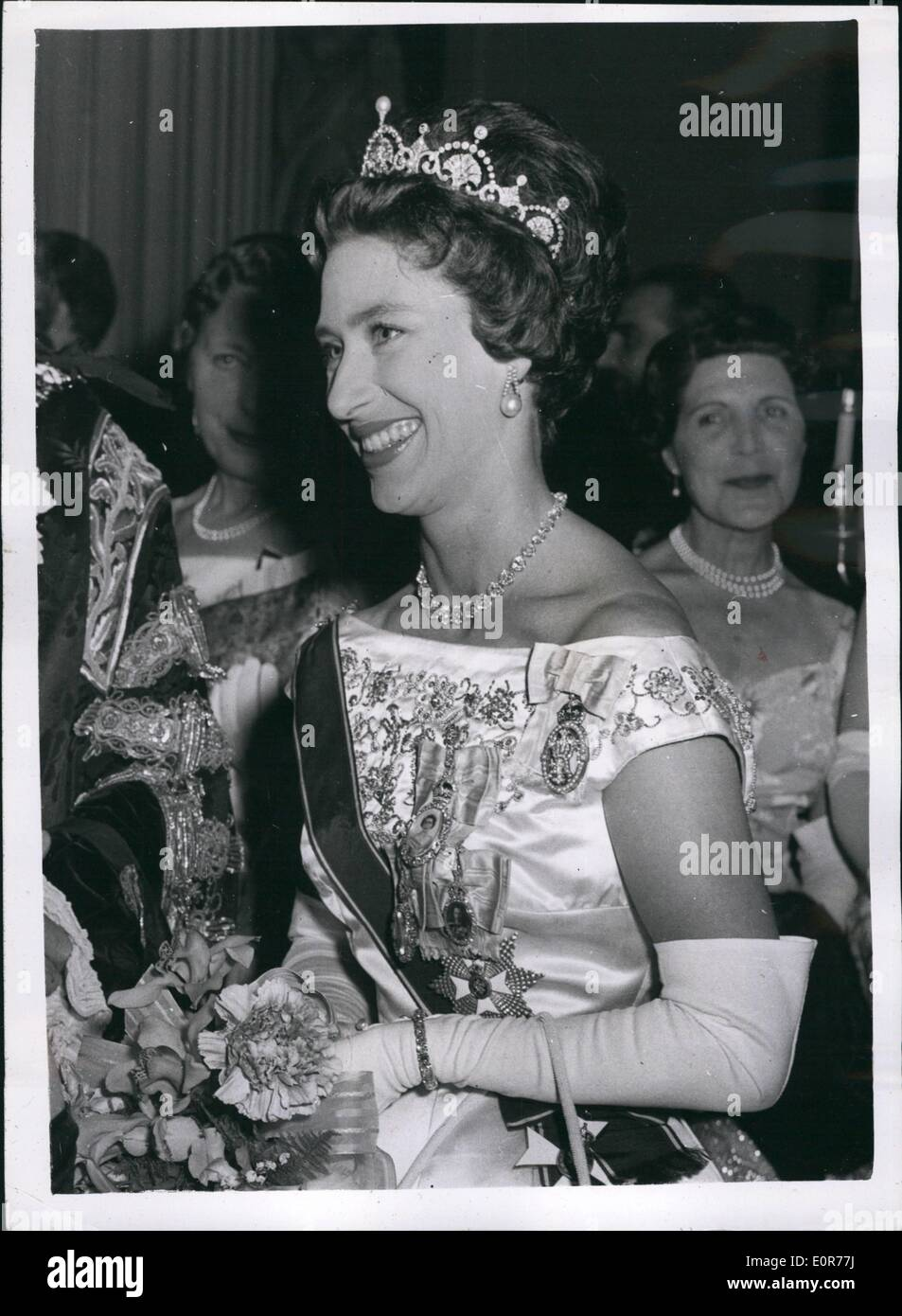 May 05, 1958 - City of London reception to ''Welcome home '' princess Margaret. The lord Mayor of London Sir Denis Tauscott and - Stock Image