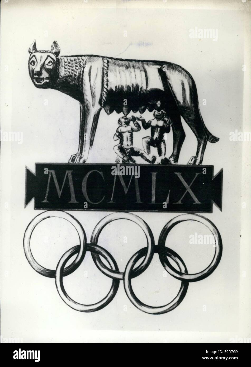 Jun 25 1958 25 6 58 The Emblem For The 1960 Olympics In Rome