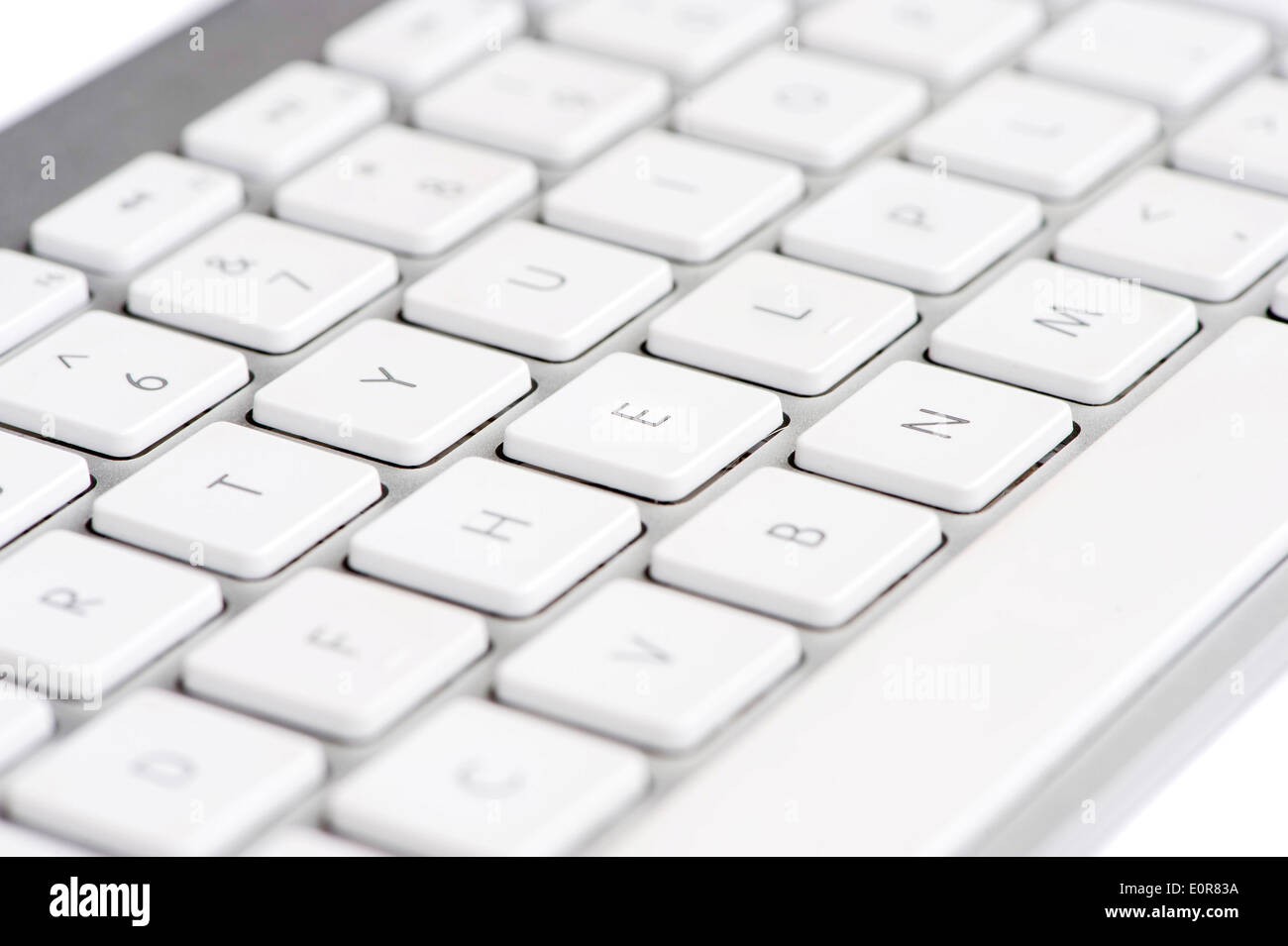 Apple mac white Keyboard spelling out the word HELP - Stock Image