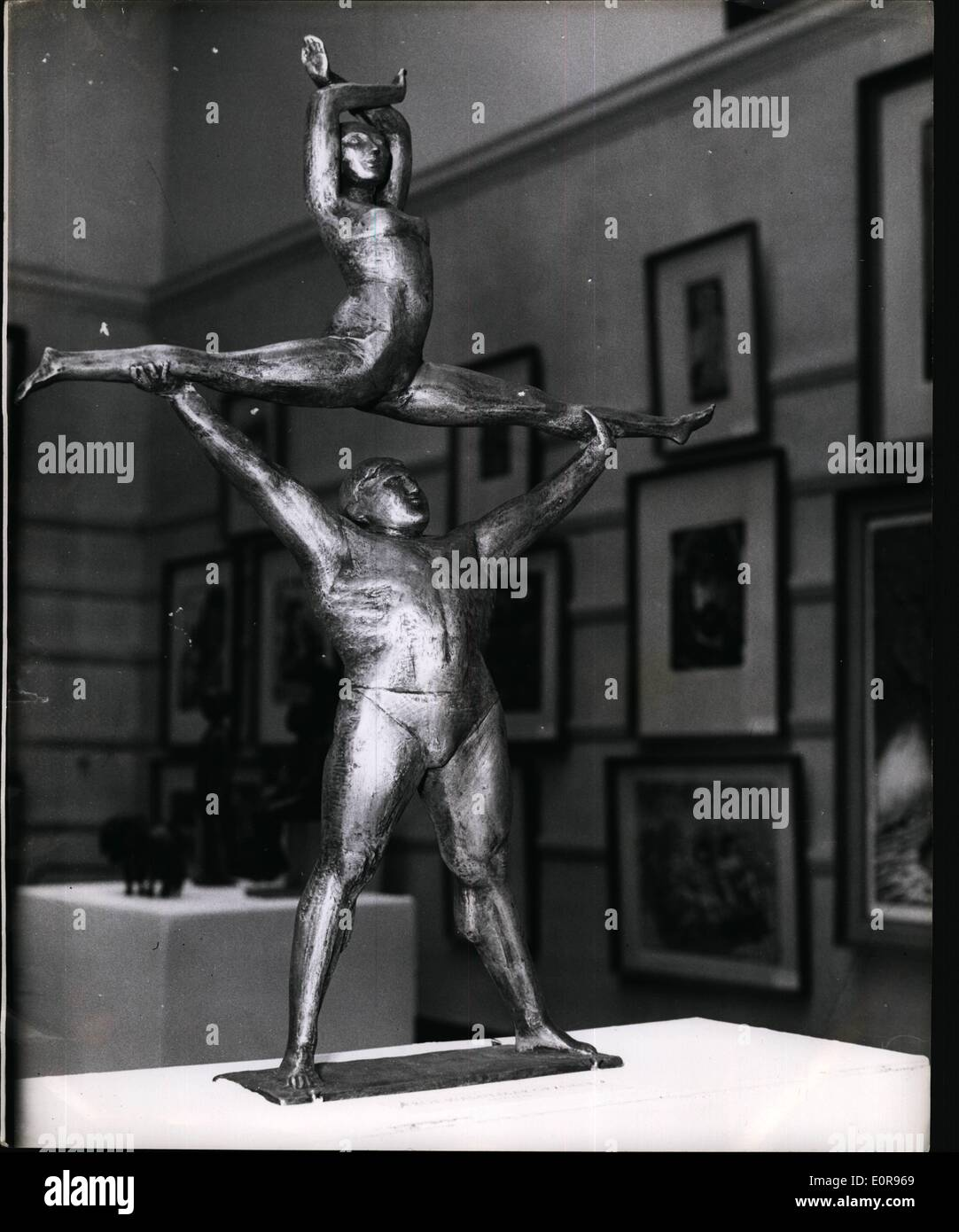Oct. 10, 1958 - Exhibition of German Graphic Art in London. Artistes in Aluminum: For the first time in this country Stock Photo