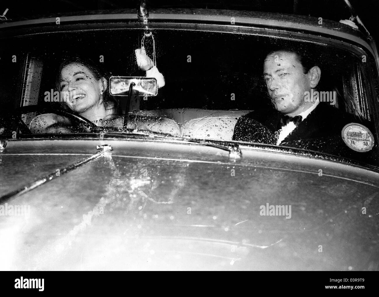 Eva Bartok goes to a party with the Marquis of Milford Have - Stock Image