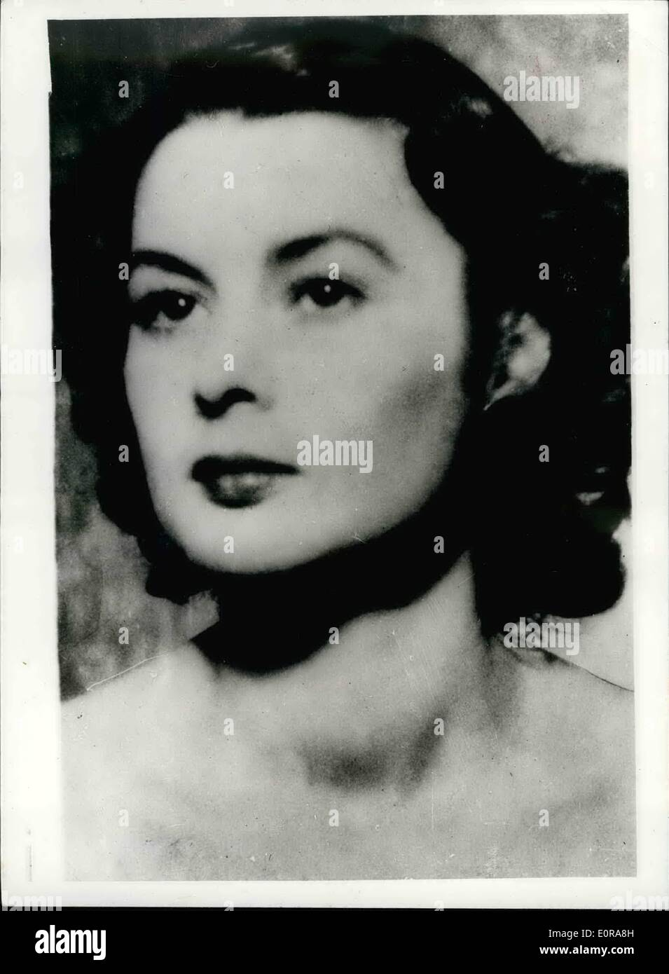 Nov. 11, 1958 - Education grant to orphan daughter of war heroine in danger of being reduced questions in house.: Dame Irene Ward, Tory M.P. for Tynemouth today tabled a motion in the House of Commons. She say that the education grant awarded to Tania Szabo daughter of Legendary Heroine Violette Szabo G.C. is in danger of being reduced.She said that a move was on foot to reduce the grant because a proportion of the royalties on the book and film of the life of Violette Szabo had been voluntarily set aside as a fund for her daughter. Tania is now 15 and lives in Australia with her grandparents - Stock Image