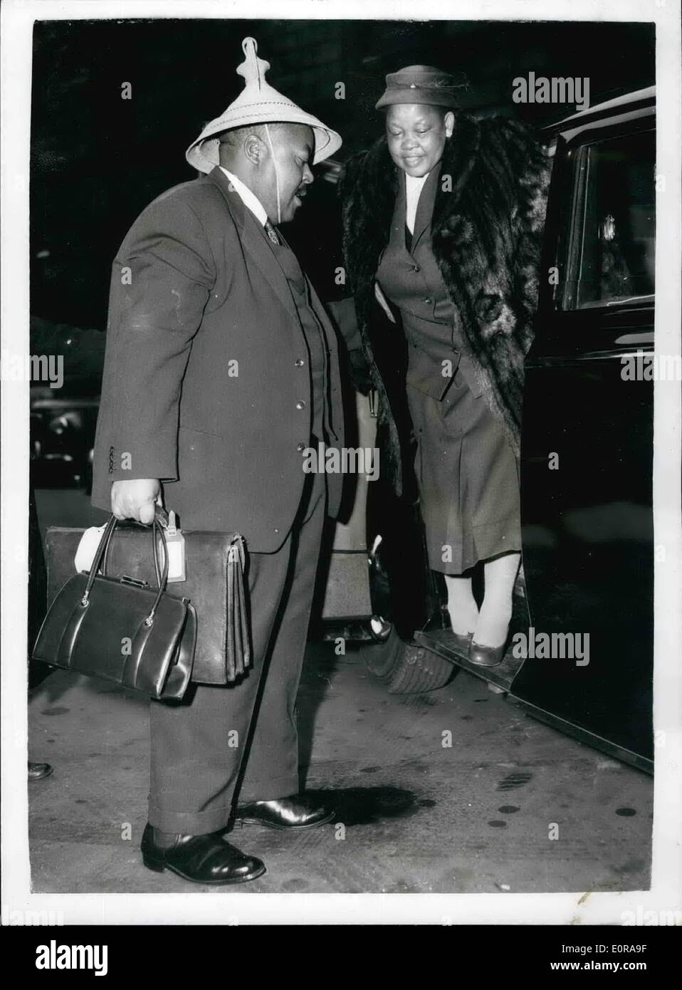 Nov. 11, 1958 - Opening Of Basutoland Discussion: The secretary of State for Commonwealths Relations, Lord Home, - Stock Image
