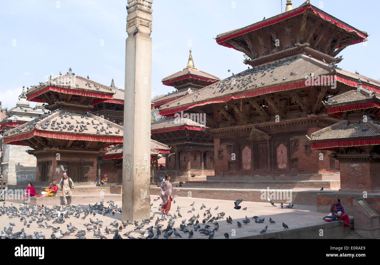 Kathmandu's Durbar Square - Stock Image