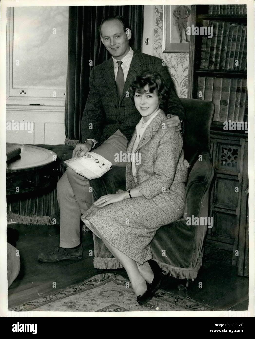 Jan. 01, 1959 - Lord Montagu To Marry Miss Belinda Crossley: The engagement has been announced between Lord Montagu of Beaulieu - Stock Image