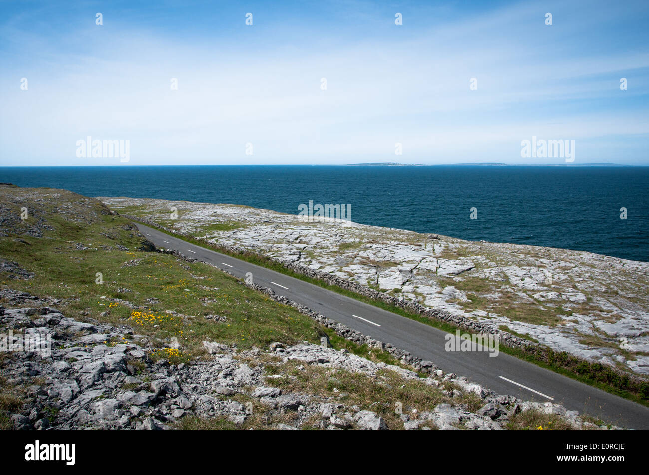 Road and Touring Route along the Wild Atlantic Way on the West Coast of Ireland - Stock Image