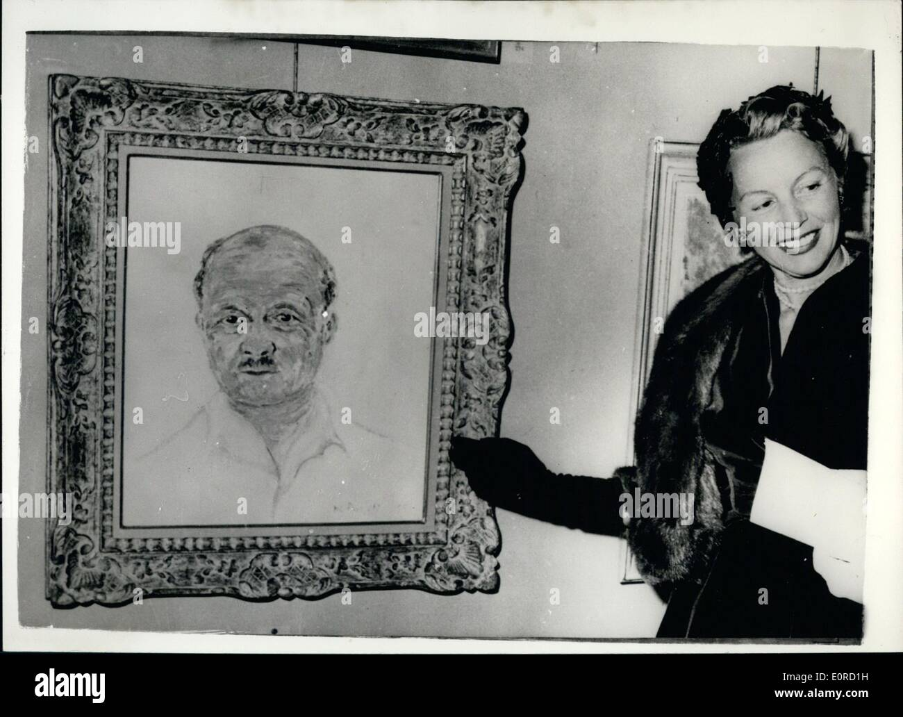 Feb. 02, 1959 - White Russian Countess Charged in ''Rosebud Ballet Scandal'' In Paris.: Madame Lily De Pinaeff - a 46 year old hite Russian Countess has been charged in Paris with offences against public morality in connection with the Rosebud Ballet Scandal in which teenage girls are alleged to have been recruited for orgies at the homes of social and political notables One of the notables mentioned in the case - is M. Andre Le Troquer a president of the National Assembly for three terms - until he was defected the last election. He categorically denies all the charges - Stock Image