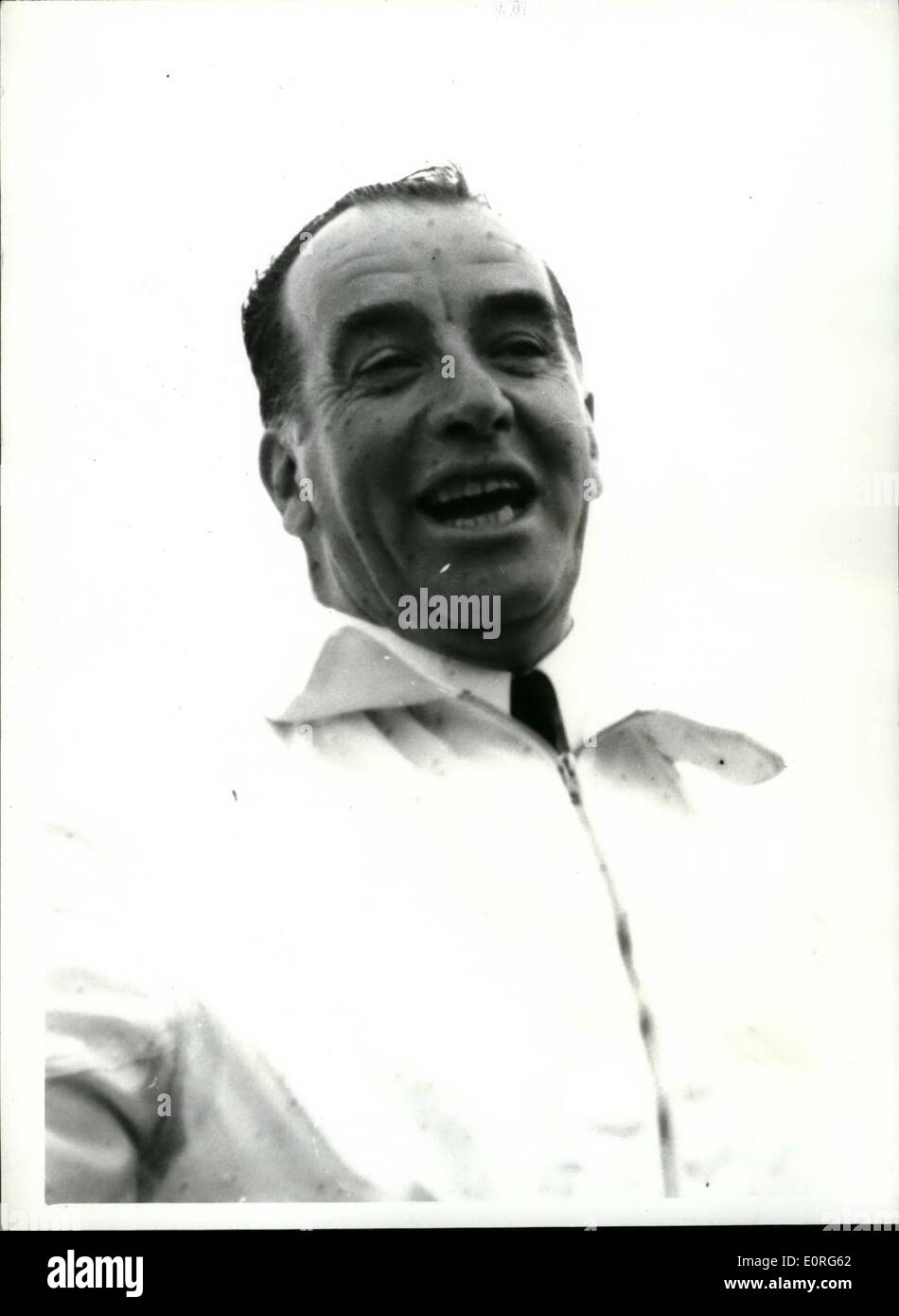 Aug. 08, 1959 - World Famous Air Pioneer Dies; Claude Graham White the world famous air pioneer - who was the holder of Britain's No. 6 flying license died today in hospital at Nice. He would have been 80 on Friday. He had been ill with a spinal complaint. He first made his name in 1910 when he took part in the London to Manchester air race. Photo Shows Claude Graham White seen at Southampton Water in July 1939 when he took part in demonstration of a new motor torpedo boat. - Stock Image