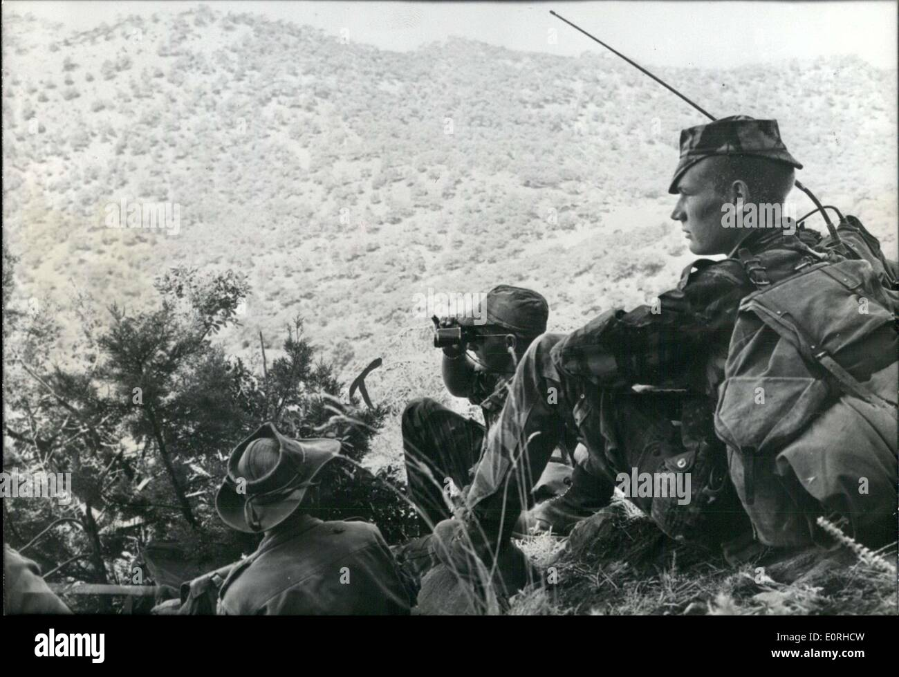 Jul. 31, 1959 - Operation ''Binoculars'' Troops on the Ground in Kabyle - Stock Image