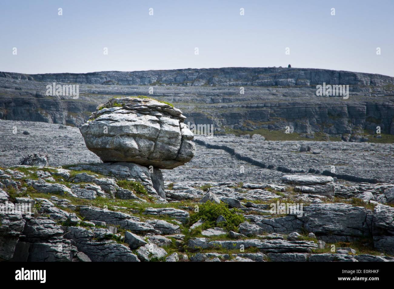 Rock Formations in Burren Region of County Clare, Ireland - Stock Image