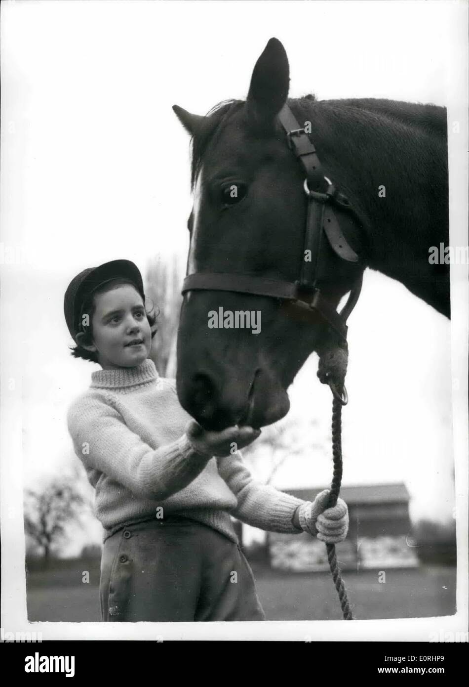 Nov. 11, 1959 - Penny receives the Queen's Pony.: Today was a big day for ten-year-old Penny Stepheonson, of St. Stock Photo