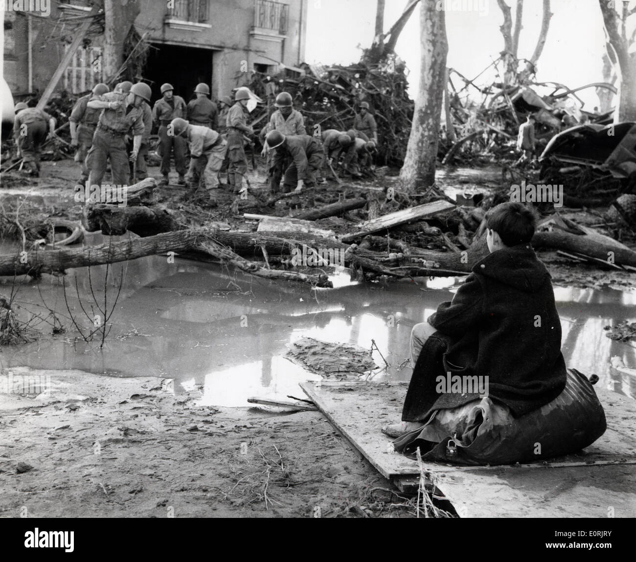 NATURAL DISASTERS: 1959 Dam Collapse in France - Stock Image