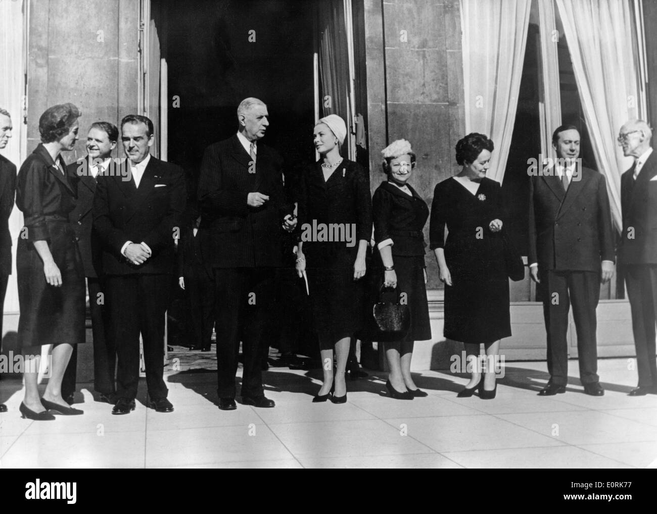 Charles De Gaulle is visited by Monaco royalty - Stock Image