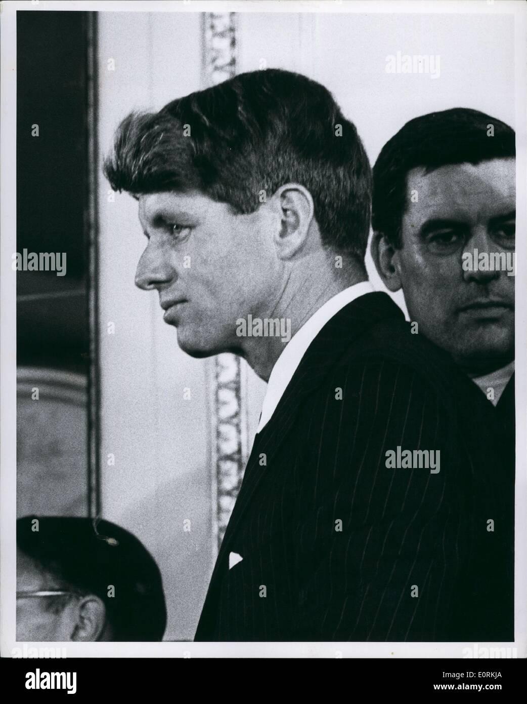 Jan 1, 1960 - RFK at Samuel Silverman Campaign New York 1966. - Stock Image