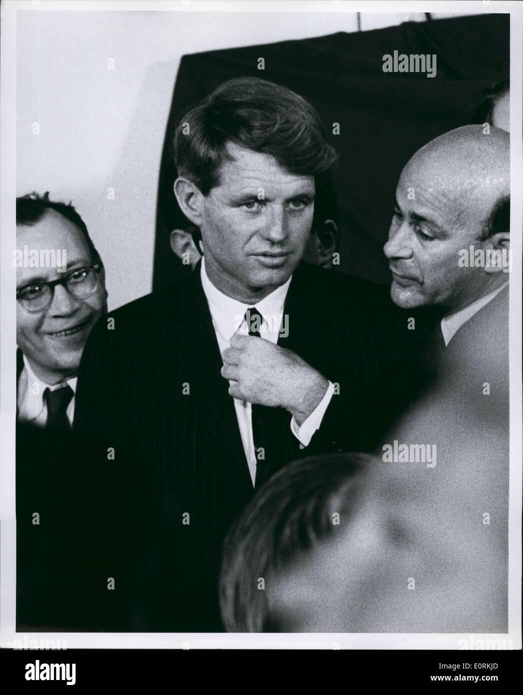 Jan 1, 1960 - RFK at Samuel firesman campaign New York 1966 - Stock Image