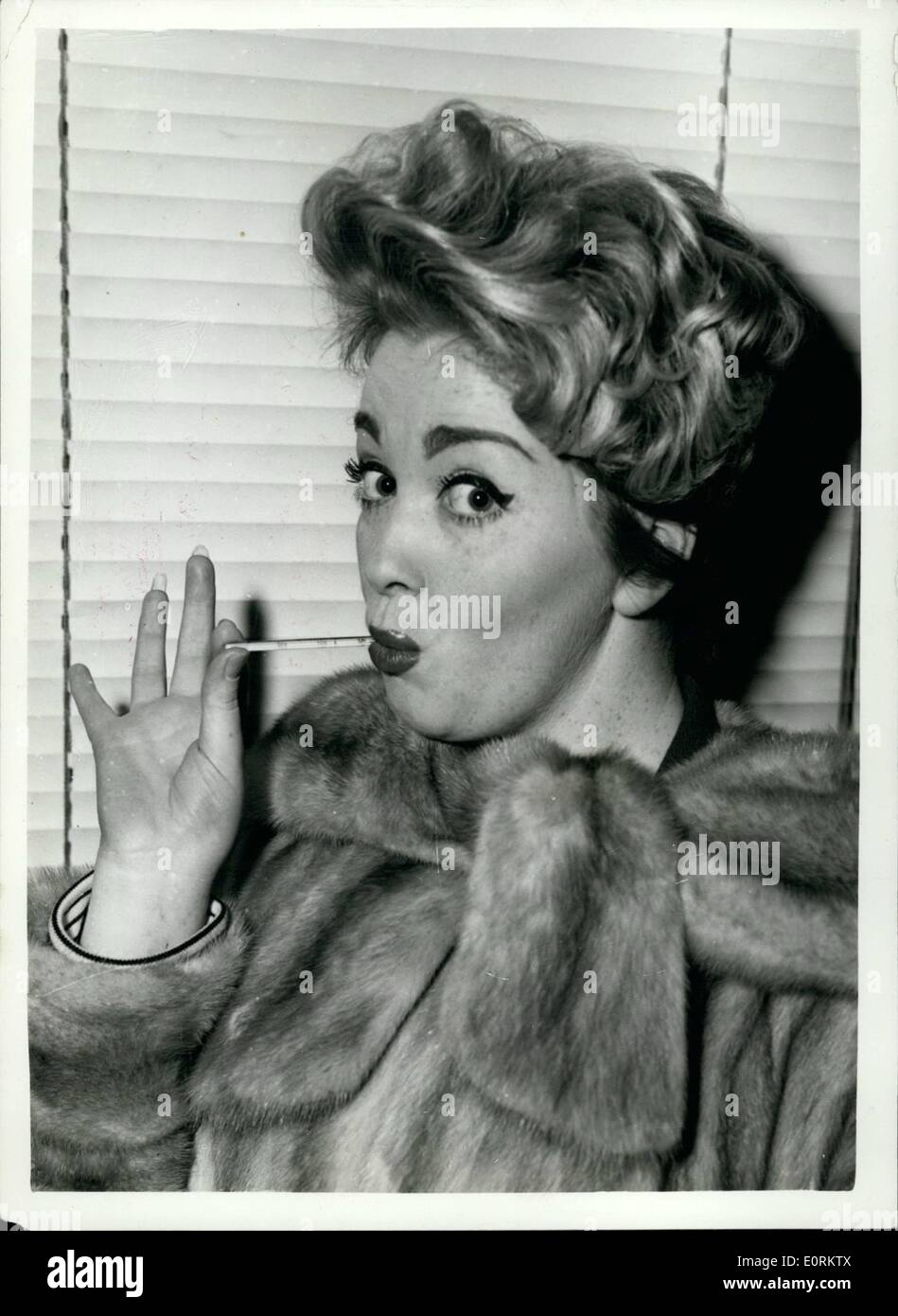 Jan. 01, 1960 - Reception For Marion Ryan. A Press Reception was given in London for popular singer Marion Ryan, who has joined - Stock Image