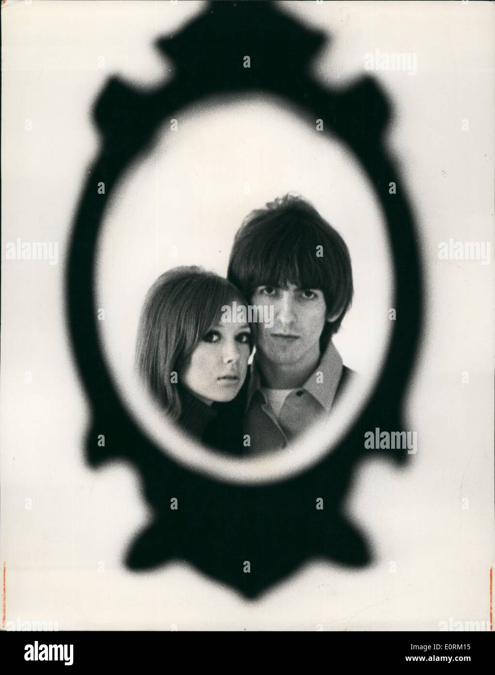 Jan 1, 1960 - Exclusive Pre-Wedding Pictures Of Beatle George Harrison And Pattie Boyd Whose Wedding Takes Place Today. - Stock Image