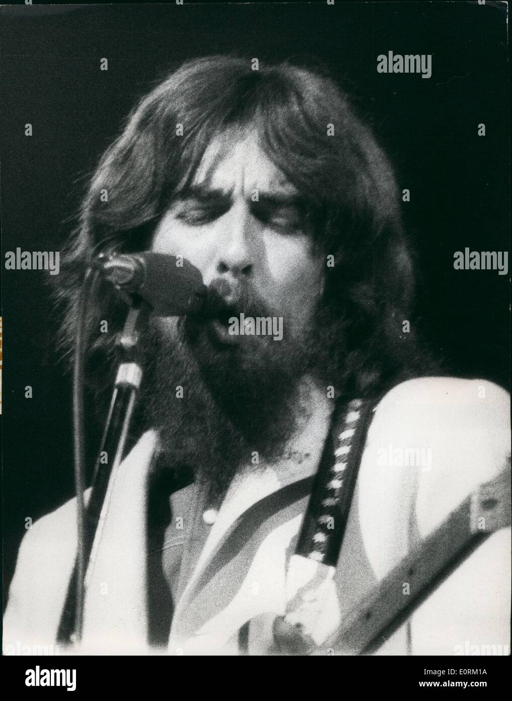 Jan 1, 1960 - The new George Harrison, as seem om tion during the concert in New york. - Stock Image