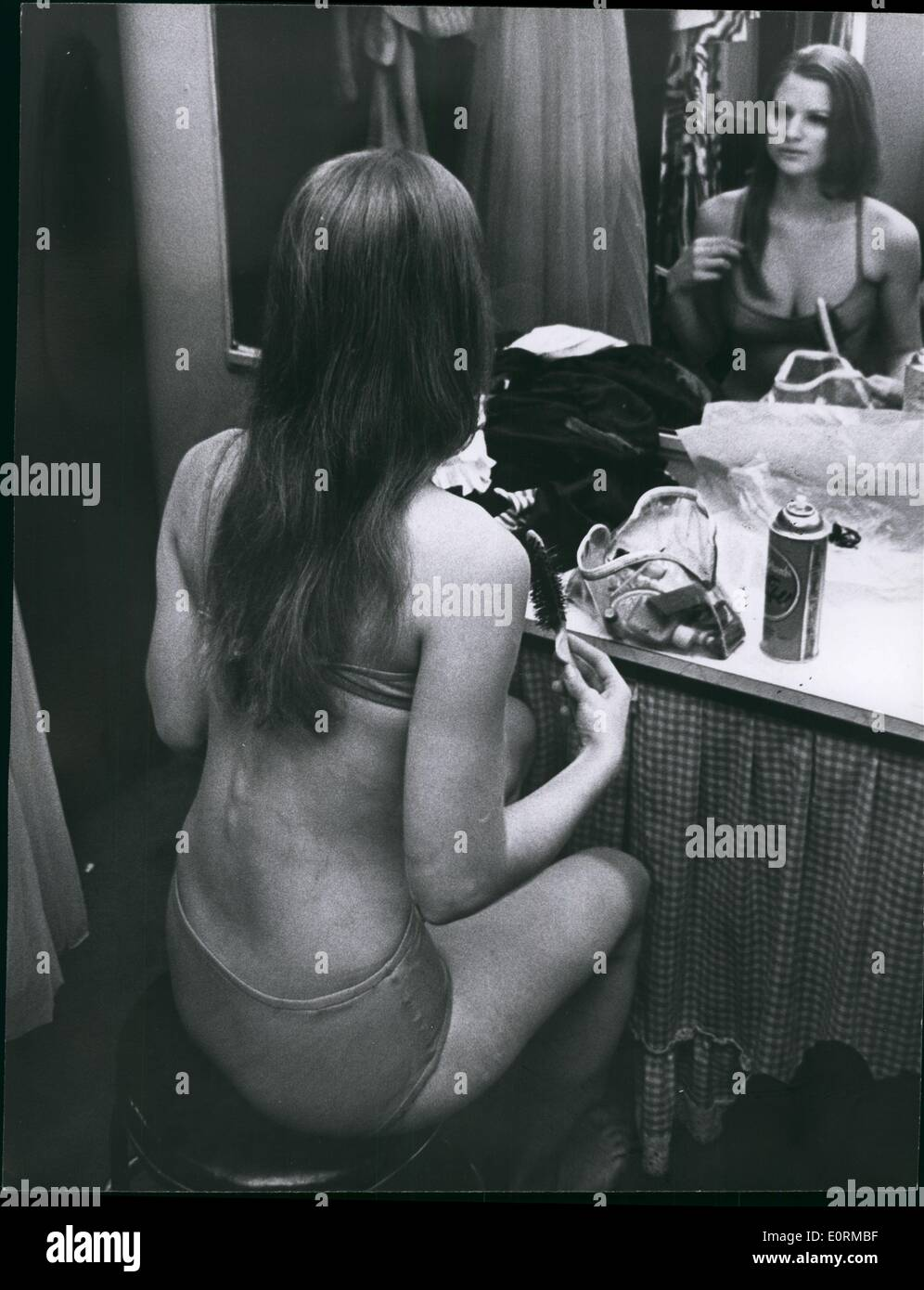 Jan 1, 1960 - Lunch-time bikini show at New York's Our Place Discotheque. - Stock Image