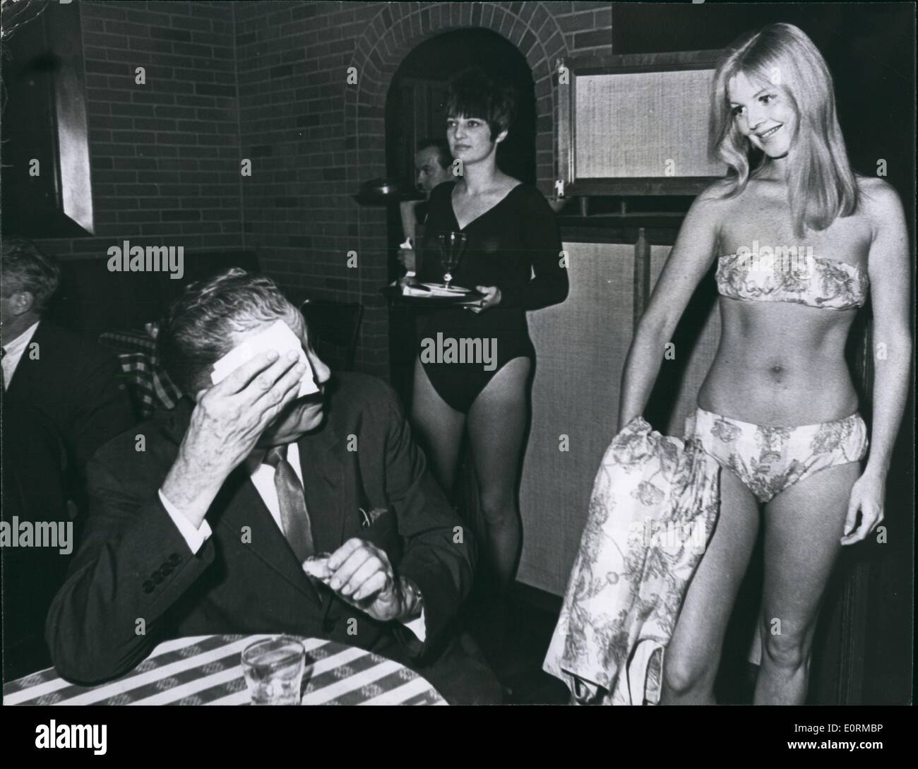 Jan 1, 1960 - Lunch-time bikini show at New York's Our Place Discotheque - Stock Image