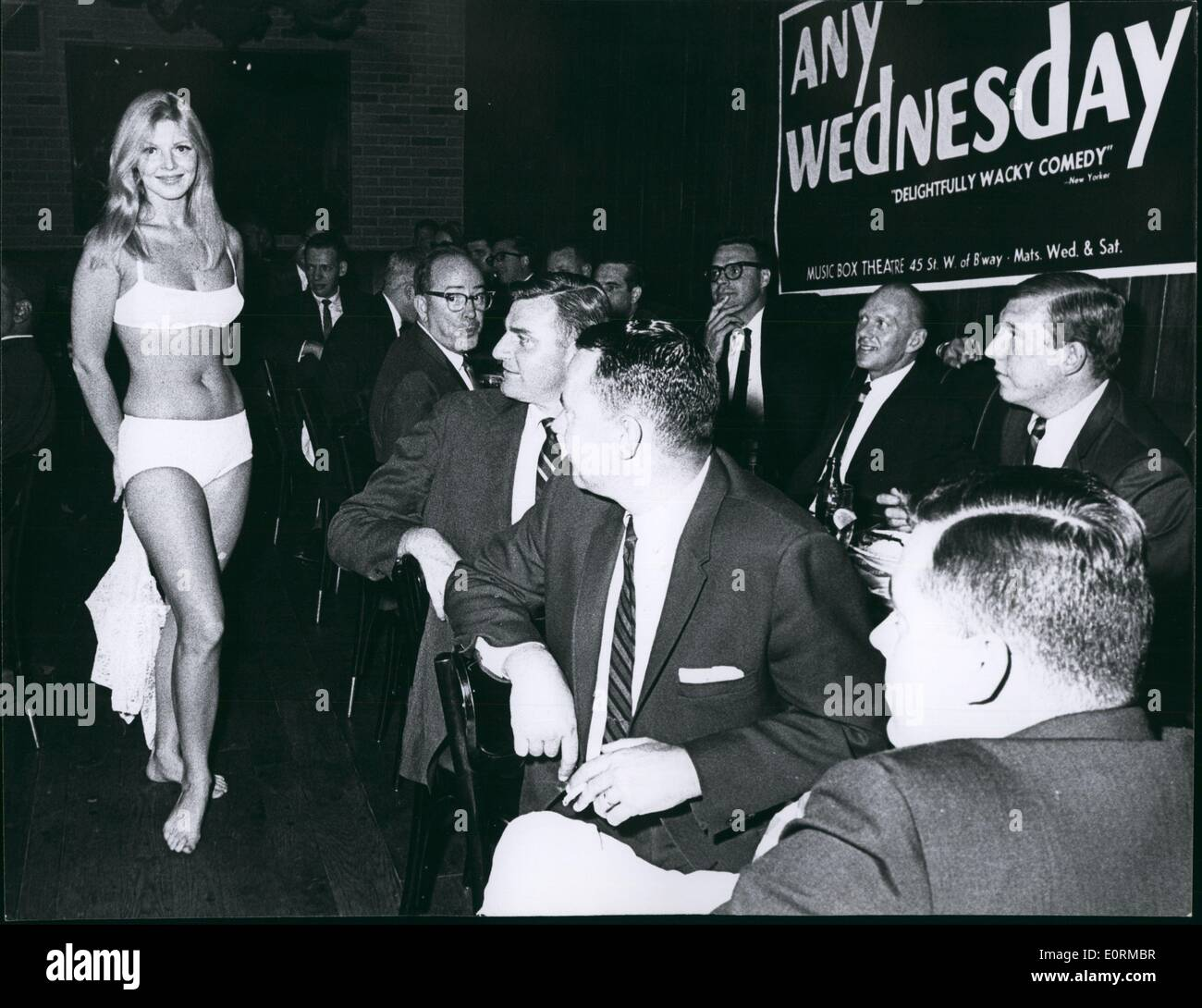Jan 1, 1960 - Lunch-time bikine show at New York's Our Place Discotheque - Stock Image