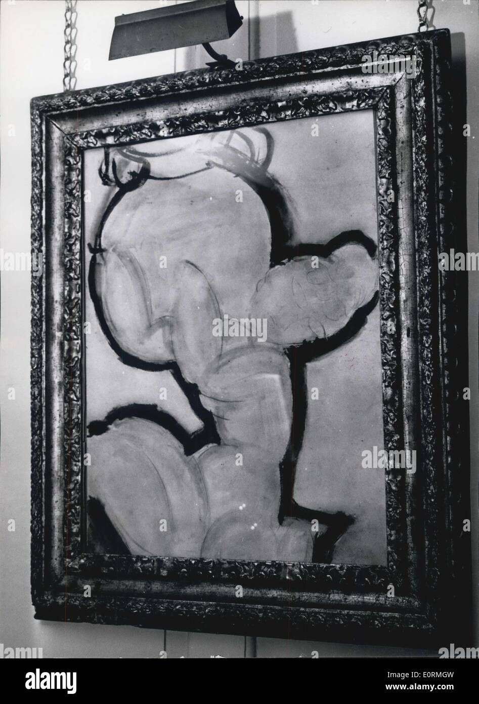 Jan 1, 1960 - Modigliani's last picture ''Caryatid' - Stock Image