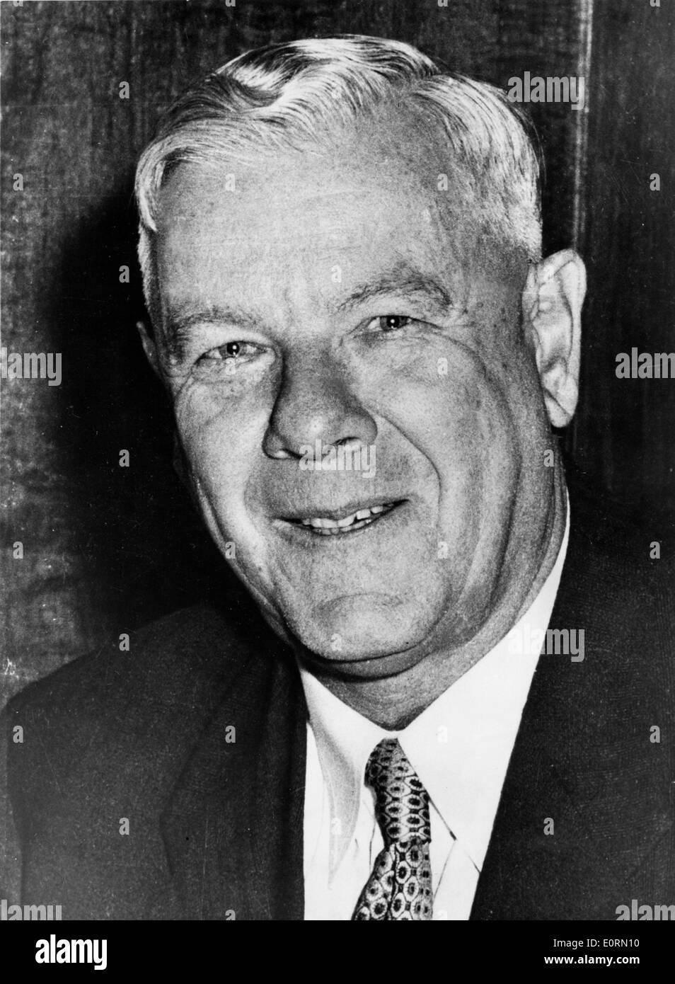 Portrait of the architect of Apartheid Hendrik Verwoerd - Stock Image