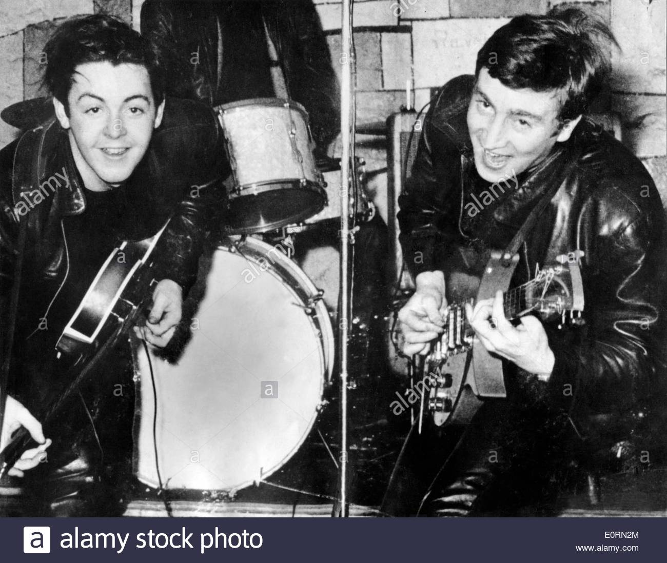 Paul McCartney And John Lennon During At Concert The Cavern Club