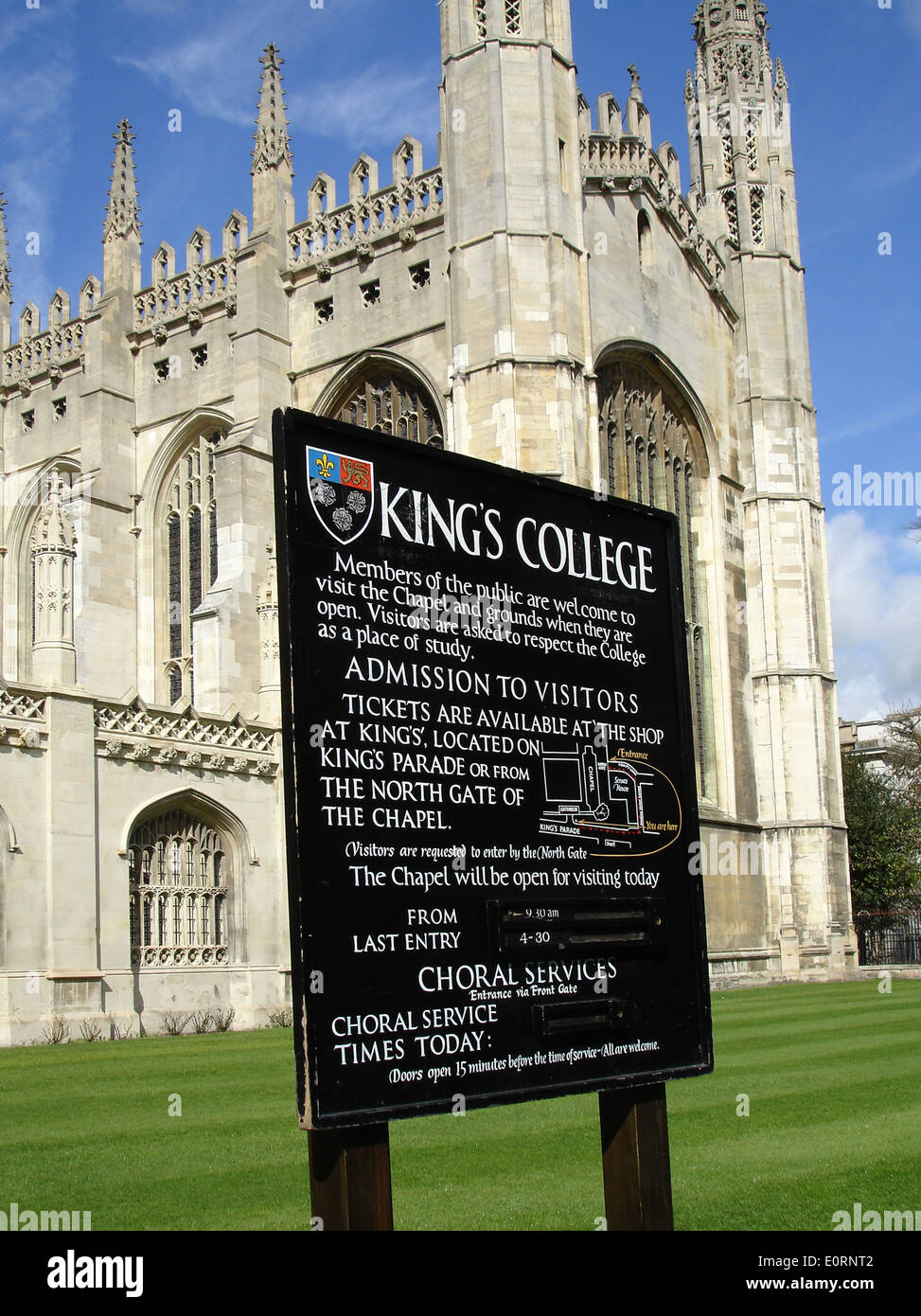 Kings College Chapel, Cambridge, UK - Stock Image