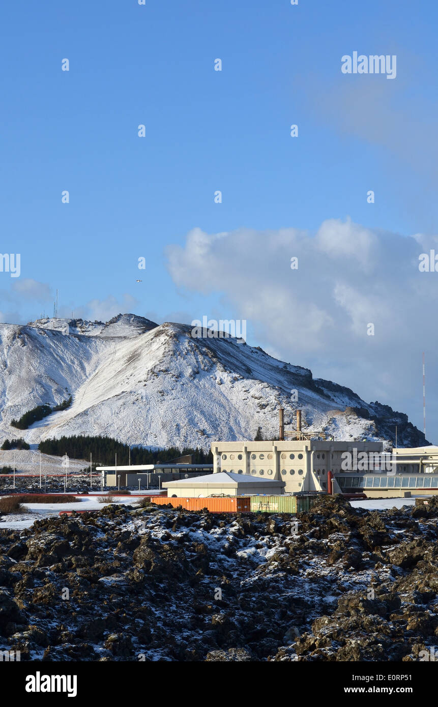Svartsengi geothermal electrical power station near Grindavik, Iceland. Stock Photo
