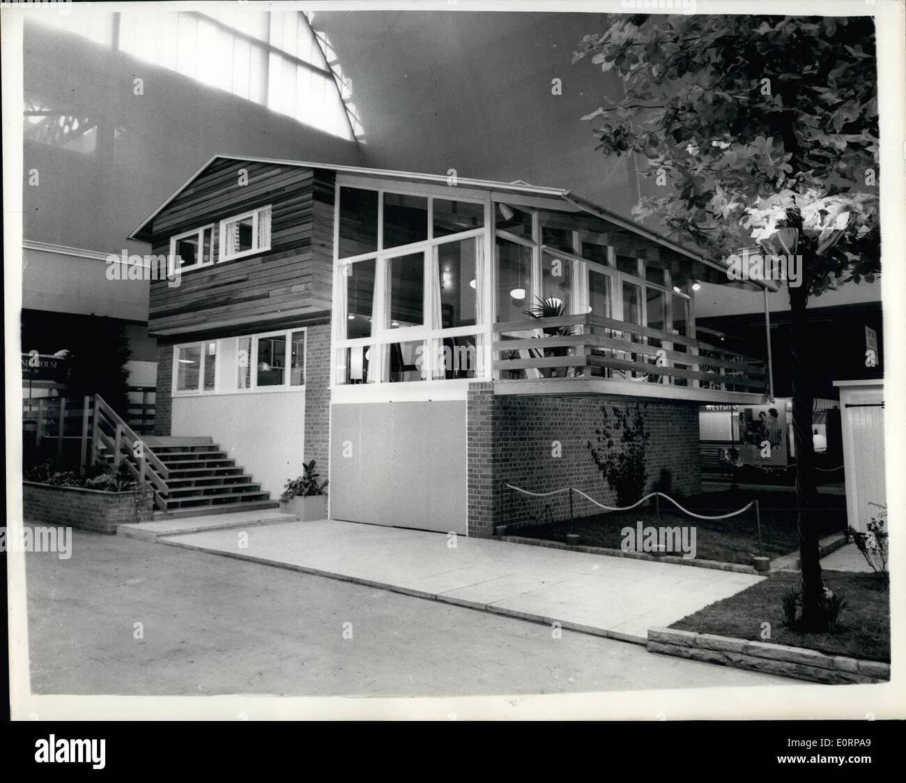 02, 1960   Preview Of The Ideal Homes Exhibition Canadian Style House.  Known As The Canada Trend House: Preview Was Held This Morning At Olympia Of  The ...