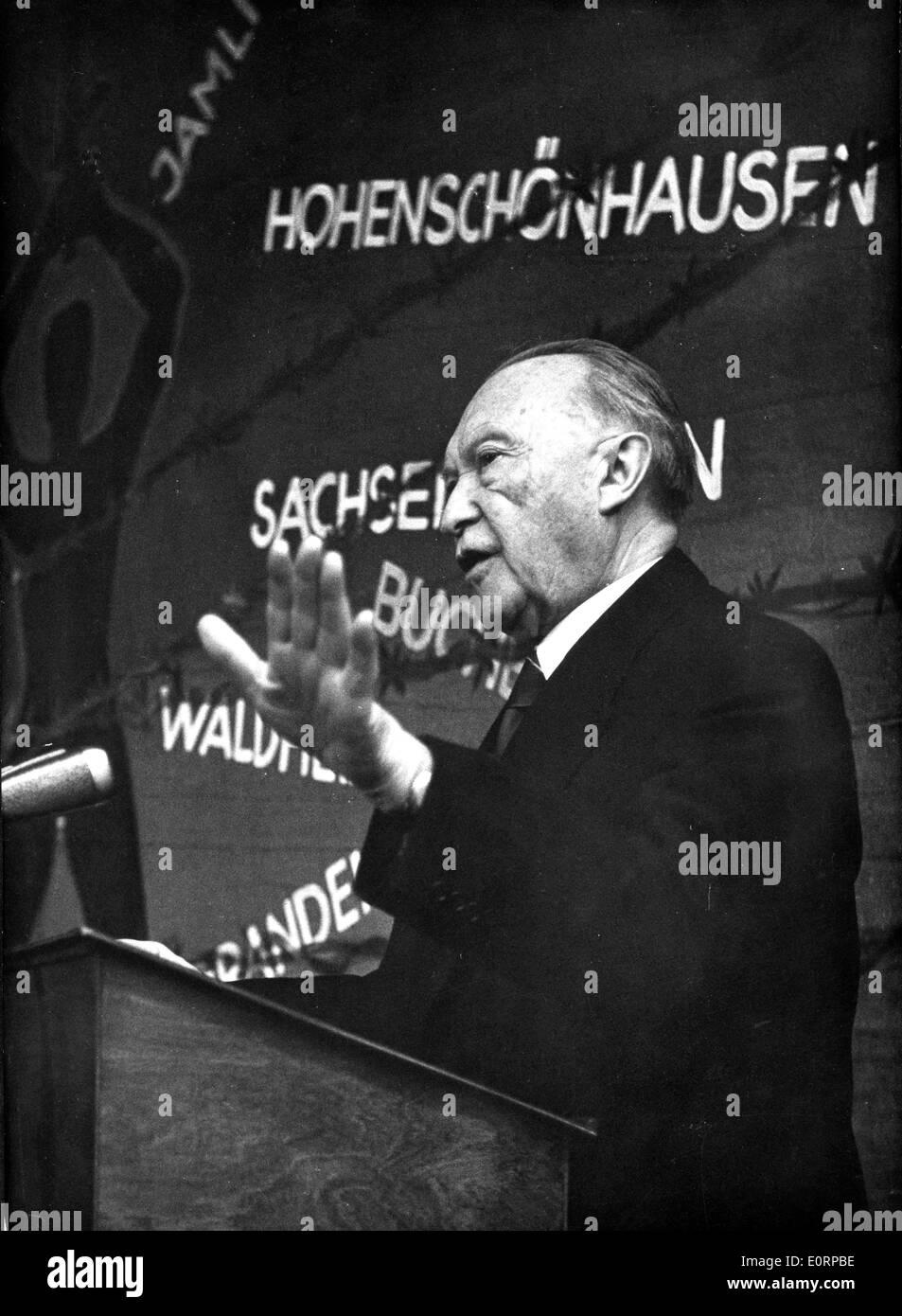 Konrad Adenauer speaks for Victims of Stalinism - Stock Image