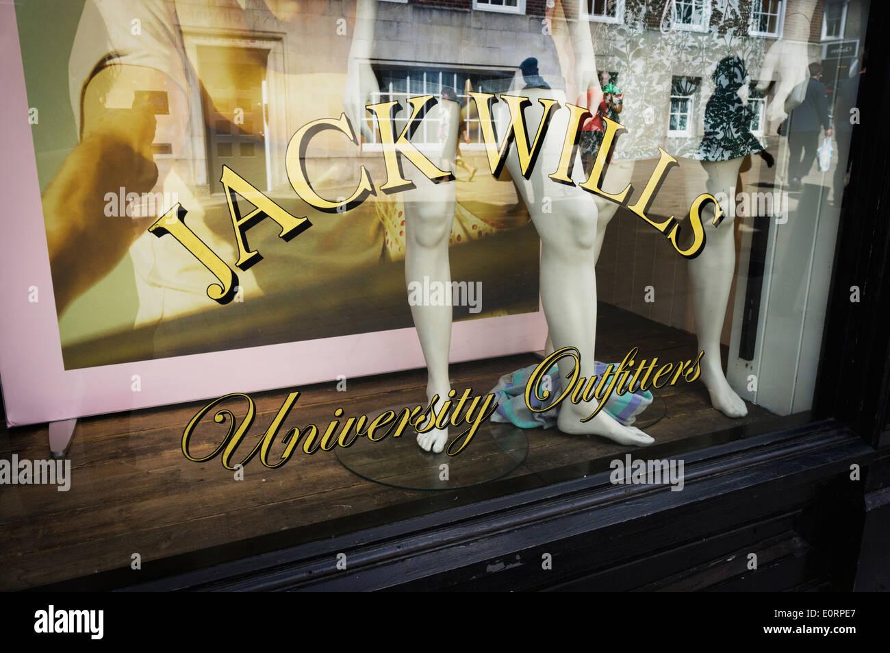 Jack Wills fashion clothing store, England, UK - Stock Image