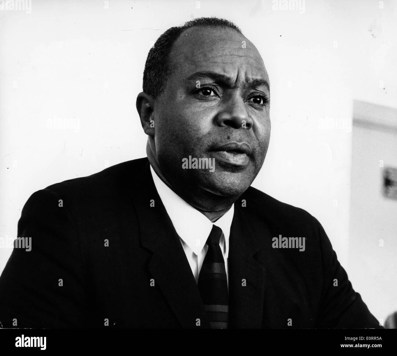 Civil Rights Leader James L Farmer Jr In Meeting Stock Photo Alamy