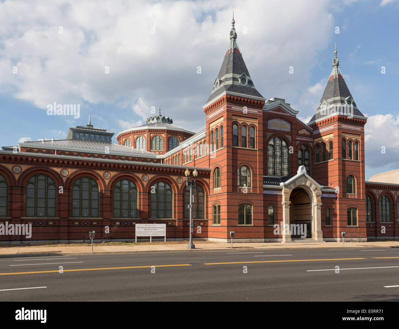Arts and Industries building of Smithsonian Institution in Washington DC, USA - Stock Image