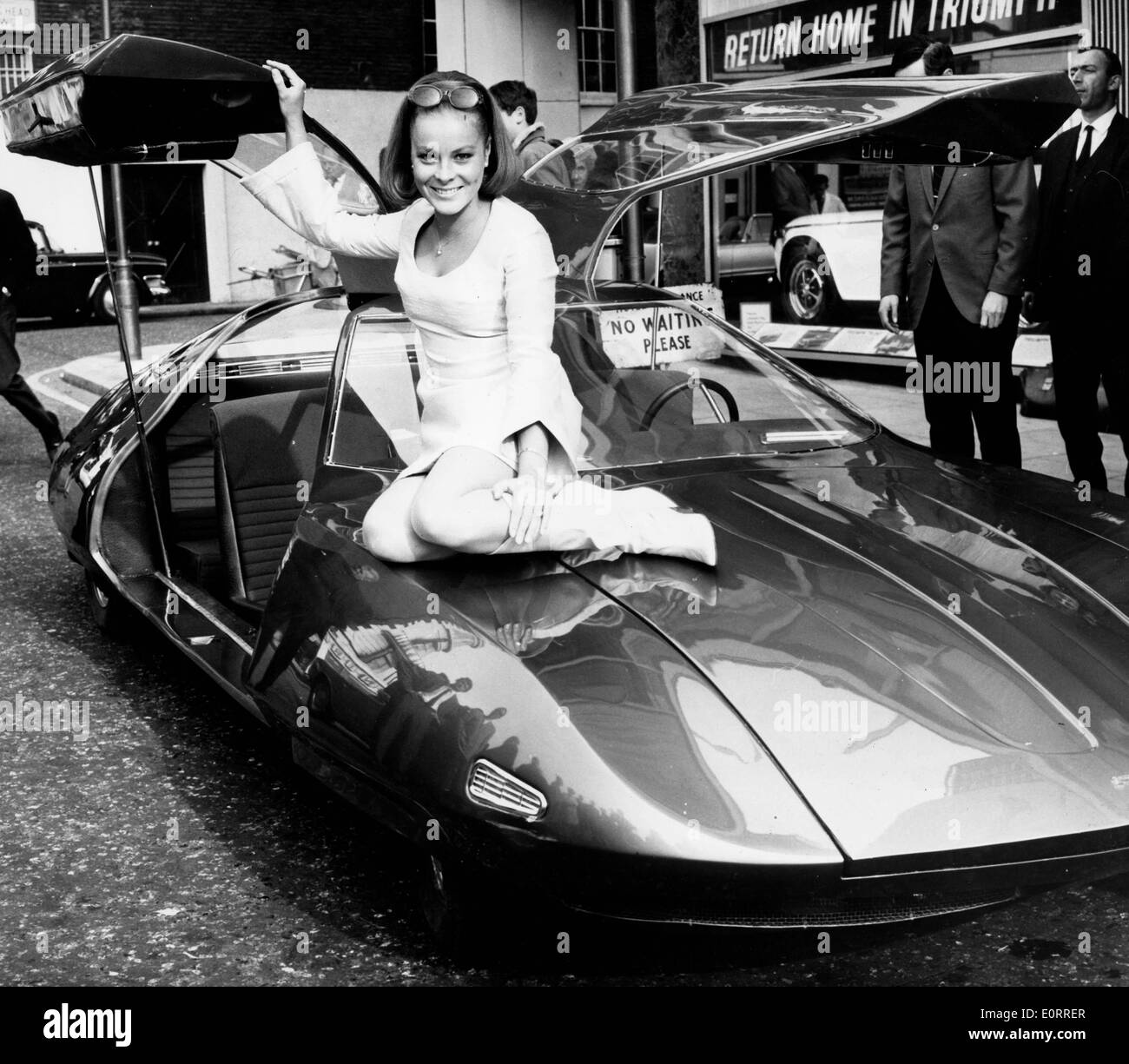 Actress Loni von Friedl with Doppelganger car - Stock Image