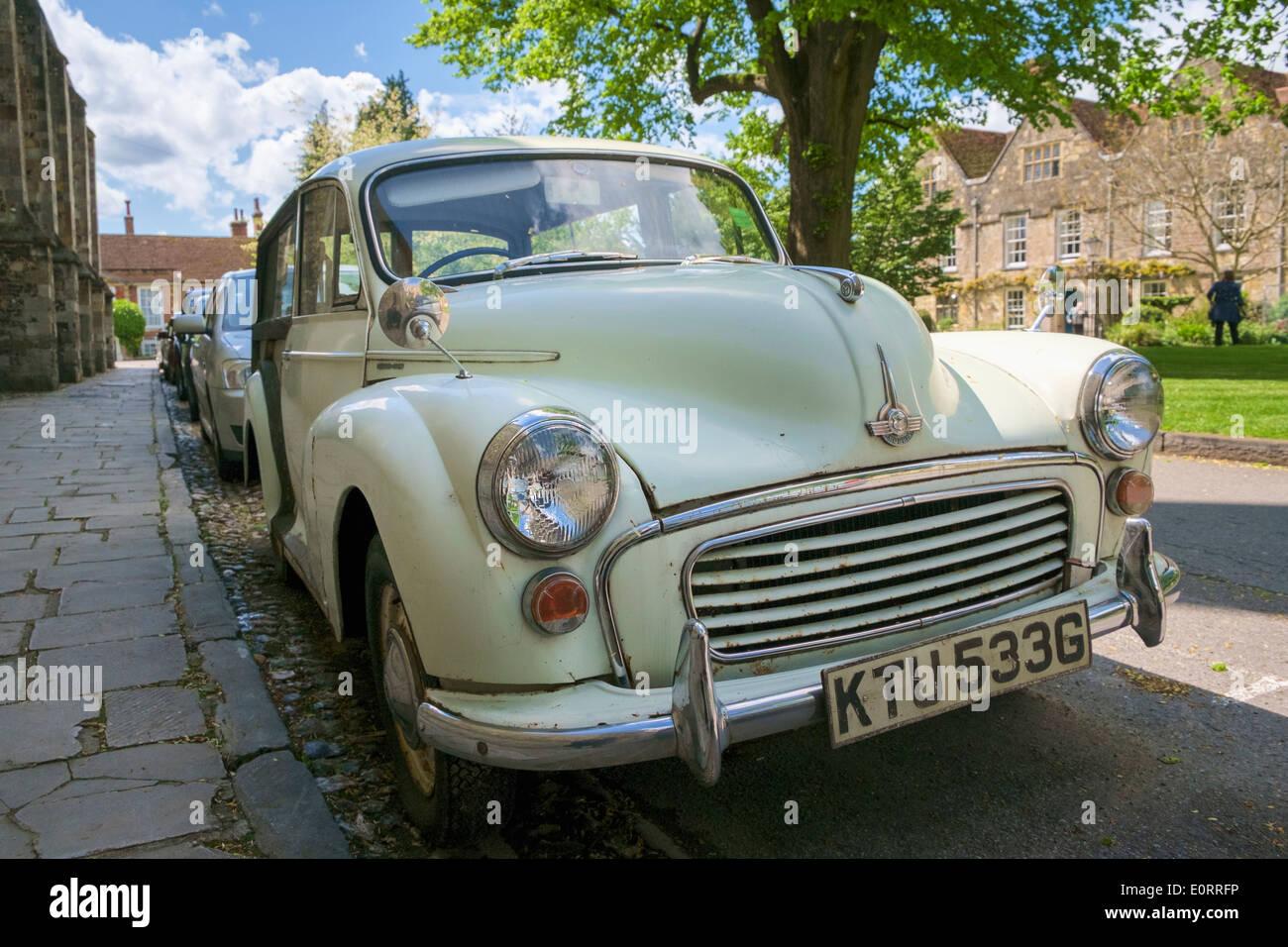 Morris Minor 1000 Traveler, a vintage car built in 1968, England, UK - Stock Image